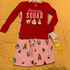 2/$20 Carter's Girls Size 3T Christmas Pajamas NWT